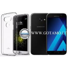Mercury Jelly dėklas nugarėlė Samsung Galaxy A3 (2017) telefonui skaidrus Klaipėda | Klaipėda | Plungė