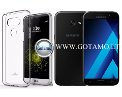 Mercury Jelly dėklas nugarėlė Samsung Galaxy A3 (2017) telefonui skaidrus