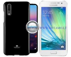 Mercury Jelly dėklas nugarėlė Samsung Galaxy A3 telefonui juodos spalvos