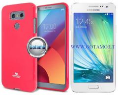 Mercury Jelly dėklas nugarėlė Samsung Galaxy A3 telefonui tamsiai rožinės spalvos