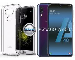 Mercury Jelly dėklas nugarėlė Samsung Galaxy A40 telefonui skaidrus