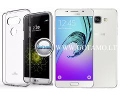 Mercury Jelly dėklas nugarėlė Samsung Galaxy A5 (2016) telefonui skaidrus