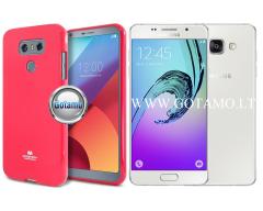 Mercury Jelly dėklas nugarėlė Samsung Galaxy A5 (2016) telefonui tamsiai rožinės spalvos
