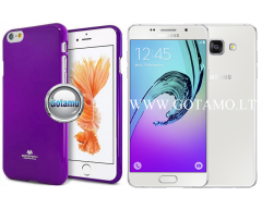 Mercury Jelly dėklas nugarėlė Samsung Galaxy A5 (2016) telefonui violetinės spalvos