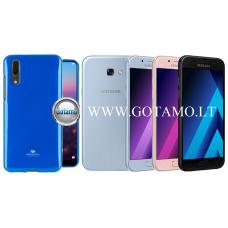 Mercury Jelly dėklas nugarėlė Samsung Galaxy A5 (2017) telefonui mėlynos spalvos