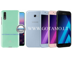 Mercury Jelly dėklas nugarėlė Samsung Galaxy A5 (2017) telefonui mėtinės spalvos