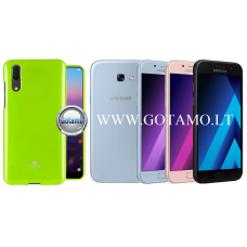 Mercury Jelly dėklas nugarėlė Samsung Galaxy A5 (2017) telefonui salotinės spalvos
