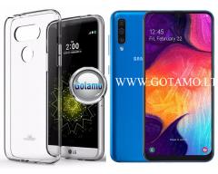 Mercury Jelly dėklas nugarėlė Samsung Galaxy A50 telefonui skaidrus
