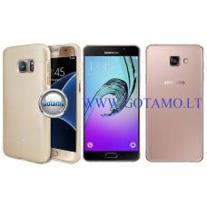 Mercury Jelly dėklas nugarėlė Samsung Galaxy A7 (2016) telefonui aukso spalvos Kaunas | Telšiai | Telšiai