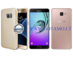Mercury Jelly dėklas nugarėlė Samsung Galaxy A7 (2016) telefonui aukso spalvos