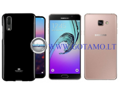 Mercury Jelly dėklas nugarėlė Samsung Galaxy A7 (2016) telefonui juodos spalvos