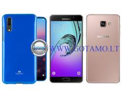 Mercury Jelly dėklas nugarėlė Samsung Galaxy A7 (2016) telefonui mėlynos spalvos