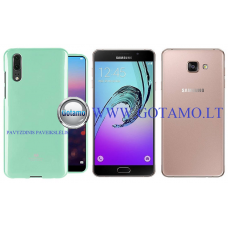 Mercury Jelly dėklas nugarėlė Samsung Galaxy A7 (2016) telefonui mėtinės spalvos