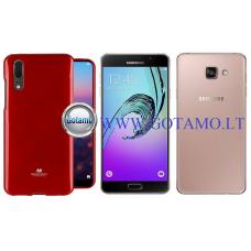 Mercury Jelly dėklas nugarėlė Samsung Galaxy A7 (2016) telefonui raudonos spalvos