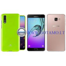 Mercury Jelly dėklas nugarėlė Samsung Galaxy A7 (2016) telefonui salotinės spalvos