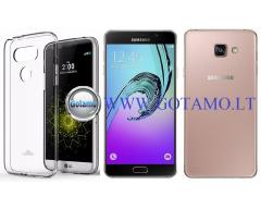 Mercury Jelly dėklas nugarėlė Samsung Galaxy A7 (2016) telefonui skaidrus
