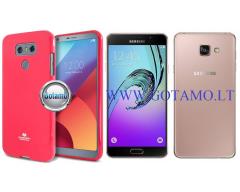Mercury Jelly dėklas nugarėlė Samsung Galaxy A7 (2016) telefonui tamsiai rožinės spalvos