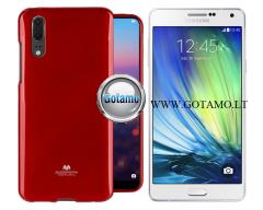Mercury Jelly dėklas nugarėlė Samsung Galaxy A7 telefonui raudonos spalvos