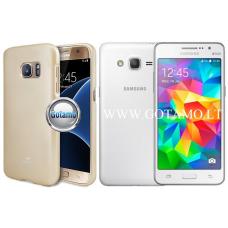 Mercury Jelly dėklas nugarėlė Samsung Galaxy Grand Prime telefonui aukso spalvos