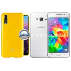 Mercury Jelly dėklas nugarėlė Samsung Galaxy Grand Prime telefonui geltonos spalvos