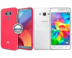 Mercury Jelly dėklas nugarėlė Samsung Galaxy Grand Prime telefonui tamsiai rožinės spalvos