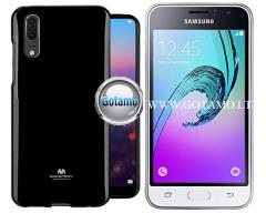 Mercury Jelly dėklas nugarėlė Samsung Galaxy J1 (2016) telefonui juodos spalvos