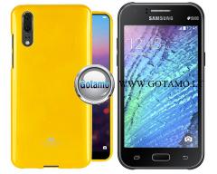Mercury Jelly dėklas nugarėlė Samsung Galaxy J1 telefonui geltonos spalvos