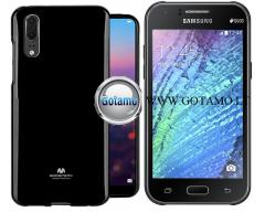 Mercury Jelly dėklas nugarėlė Samsung Galaxy J1 telefonui juodos spalvos
