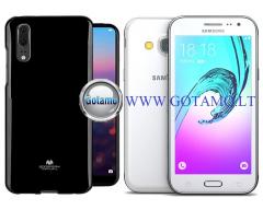 Mercury Jelly dėklas nugarėlė Samsung Galaxy J3 (2016) telefonui juodos spalvos