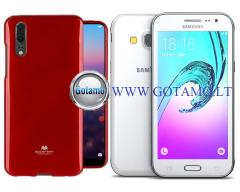 Mercury Jelly dėklas nugarėlė Samsung Galaxy J3 (2016) telefonui raudonos spalvos