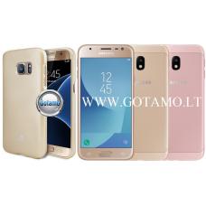 Mercury Jelly dėklas nugarėlė Samsung Galaxy J3 (2017) telefonui aukso spalvos