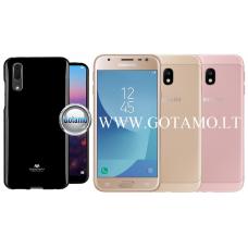 Mercury Jelly dėklas nugarėlė Samsung Galaxy J3 (2017) telefonui juodos spalvos