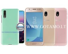 Mercury Jelly dėklas nugarėlė Samsung Galaxy J3 (2017) telefonui mėtinės spalvos