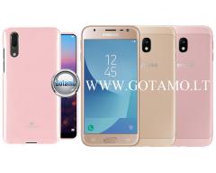 Mercury Jelly dėklas nugarėlė Samsung Galaxy J3 (2017) telefonui rožinės spalvos