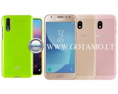 Mercury Jelly dėklas nugarėlė Samsung Galaxy J3 (2017) telefonui salotinės spalvos
