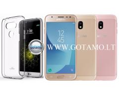 Mercury Jelly dėklas nugarėlė Samsung Galaxy J3 (2017) telefonui skaidrus