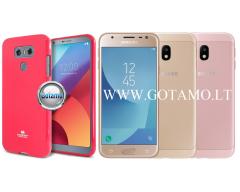 Mercury Jelly dėklas nugarėlė Samsung Galaxy J3 (2017) telefonui tamsiai rožinės spalvos