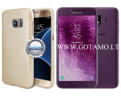 Mercury Jelly dėklas nugarėlė Samsung Galaxy J4 (2018) telefonui aukso spalvos