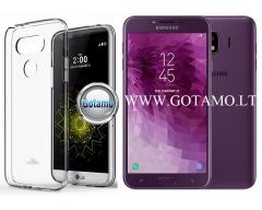 Mercury Jelly dėklas nugarėlė Samsung Galaxy J4 (2018) telefonui skaidrus