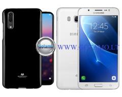 Mercury Jelly dėklas nugarėlė Samsung Galaxy J5 (2016) telefonui juodos spalvos