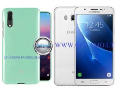 Mercury Jelly dėklas nugarėlė Samsung Galaxy J5 (2016) telefonui mėtinės spalvos