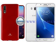 Mercury Jelly dėklas nugarėlė Samsung Galaxy J5 (2016) telefonui raudonos spalvos