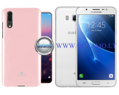 Mercury Jelly dėklas nugarėlė Samsung Galaxy J5 (2016) telefonui rožinės spalvos