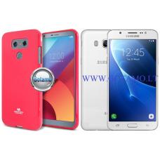 Mercury Jelly dėklas nugarėlė Samsung Galaxy J5 (2016) telefonui tamsiai rožinės spalvos