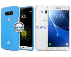 Mercury Jelly dėklas nugarėlė Samsung Galaxy J5 (2016) telefonui žydros spalvos