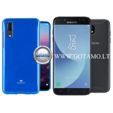 Mercury Jelly dėklas nugarėlė Samsung Galaxy J5 (2017) telefonui mėlynos spalvos