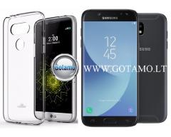 Mercury Jelly dėklas nugarėlė Samsung Galaxy J5 (2017) telefonui skaidrus