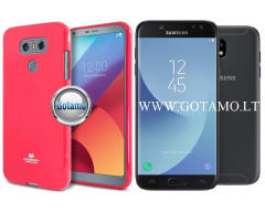 Mercury Jelly dėklas nugarėlė Samsung Galaxy J5 (2017) telefonui tamsiai rožinės spalvos
