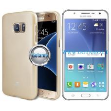 Mercury Jelly dėklas nugarėlė Samsung Galaxy J5 telefonui aukso spalvos