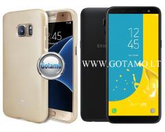 Mercury Jelly dėklas nugarėlė Samsung Galaxy J6 (2018) telefonui aukso spalvos